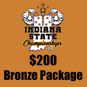 $200 Bronze Indiana State Championships Sponsorship Package